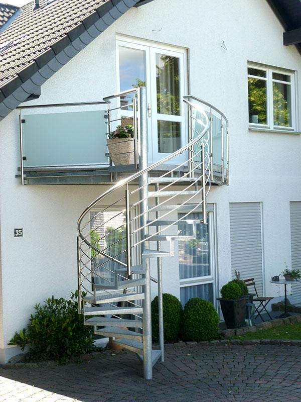 Gut gemocht Anbaubalkon mit Treppe - OBERBÖRSCH DESIGN VR35